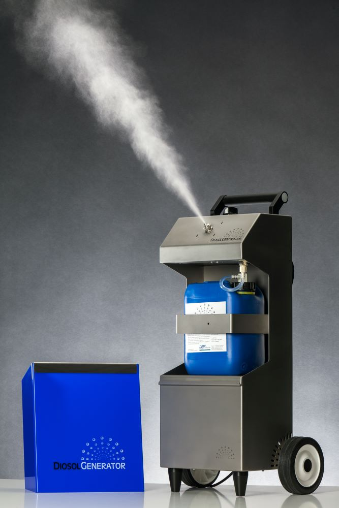 Tatortreinigung Lipka Diosol Generator Desinfektion Raumvernebelung